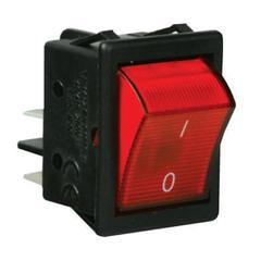 EMAS A14K Выключатель с подсветкой красный